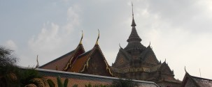 View of Wat Pho grounds