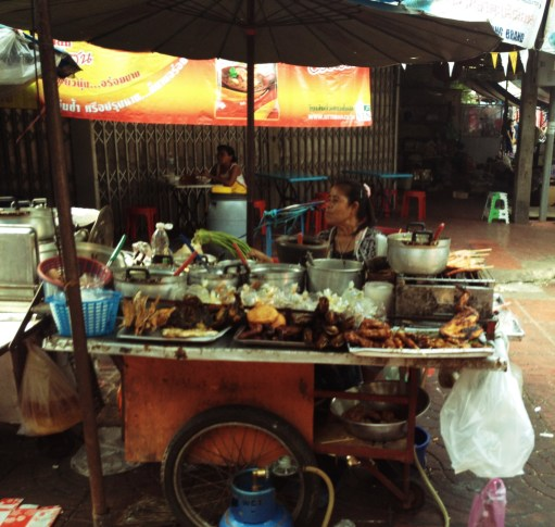 More street food cooking...while watching the world go by