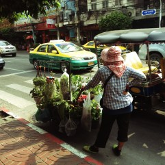 Transporting wares through the busy streets