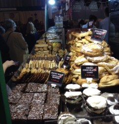Many food stalls from local producers