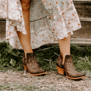 Ariat Dixon western booties bohemian dress