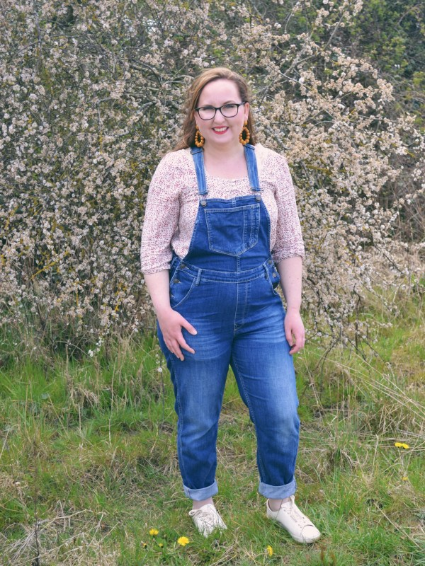 Dungarees and smocked top