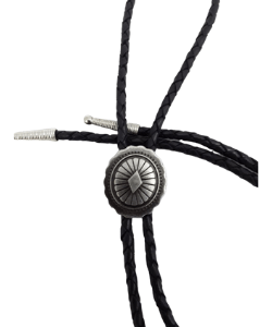 Bolo Tie - Western Bootlace Cowboy Tie - Bolo Tie Necklace - Concho Style - Bolo Tie Vintage - Western Styling