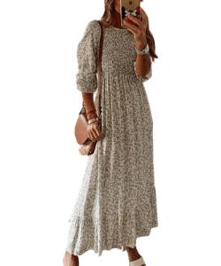 Smocked maxi dress boho dress