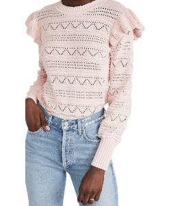 Generation Love Sienna Pointelle Ruffle Sweater Shopbop