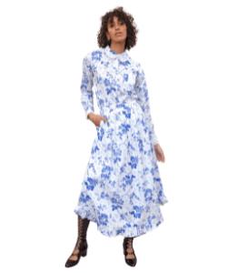 Prairie Skirt Boho Skirt Wallflower Print