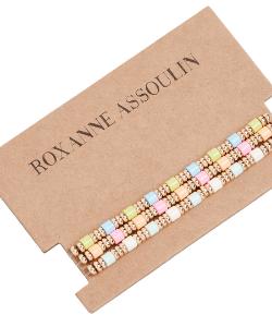 Pastel bracelet set boho jewellery from Roxane Assoulin via Shopbop