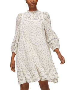 See By Chloé Voile Floral Print Dress, WhiteGrey