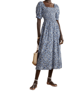 The Great calls this 'The Savanna' dress 'the perfect summer piece' and we couldn't agree more. Made from airy cotton-voile, it's printed with baby-blue and red blooms and has a shirred bodice and gently puffed sleeves that nicely frame the square neckline.