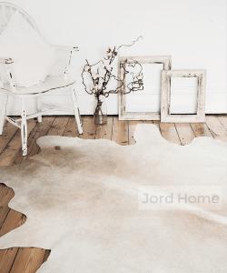 Cowhide Rug Neutral Tones / Cream & White