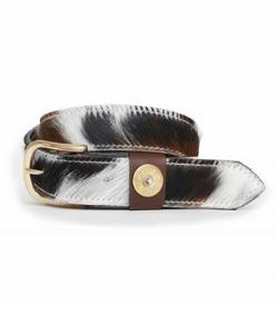 Cowhide belt cowprint belt