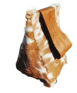 Cow hide doorstop, door stops cowhide Genuine Cowhide & Leather - Hand Made