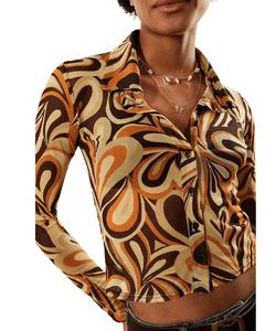 Urban Outfitters 70s Heart Mesh Shirt