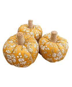 Liberty fabric mustard pumpkins
