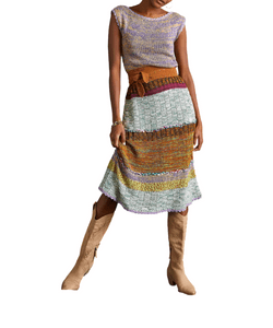 Anthropologie Colourblocked Knitted Midi Dress