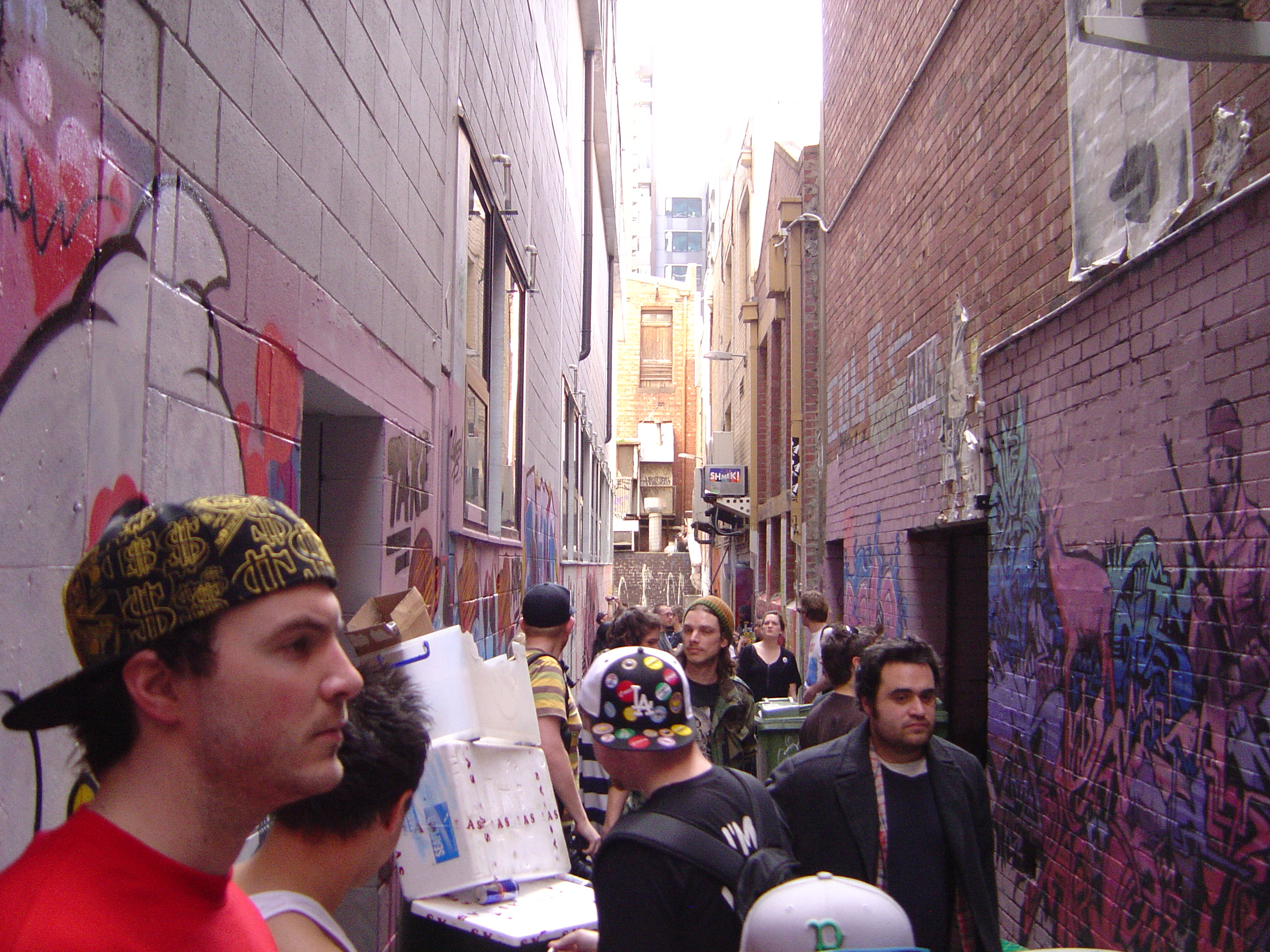 crowds in Croft Alley