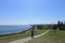 The view from the hill at Point Ormond is great, and the short ride down hill is not so shabby either