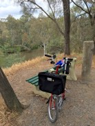 The seat here provides a lovely view over the Yarra