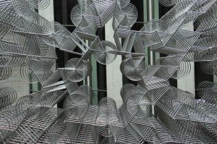A piercing look through Forever Bicycles by Ai Weiwei - photo by @baudman