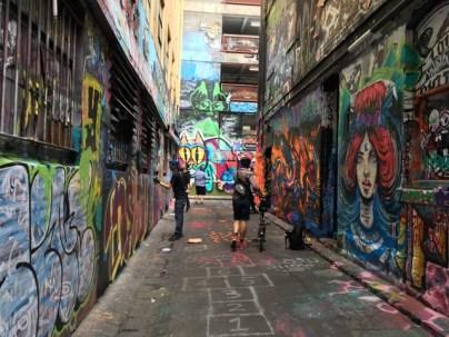 Exploring Rutledge Lane, off Hosier Lane, off Flinders Street, Melbourne