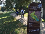 Khoa & Stephen arrive at Coburg Lake Reserve