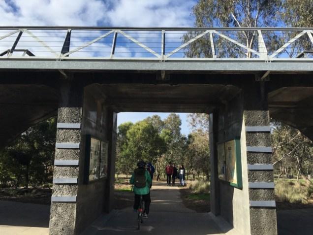 An interesting footbridge in Westgate Park