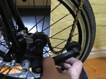 Free of the chain - easy when the rear triangle is unlatched