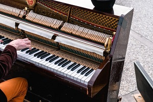 Old jazz piano in Melbourne street