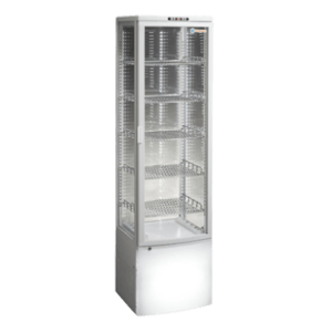 ICS Pacific Como Four Sided Glass Display Refrigerator