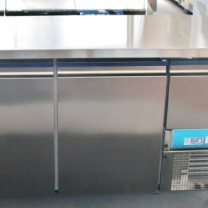 ISA 2 Door Stainless Steel Underbar Fridge