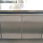 ISA 3 Door Stainless Steel Underbar Fridge