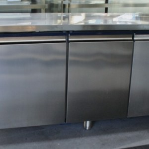 ISA 4 Door Stainless Steel Underbar Fridge