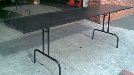 Black Ply Top Folding Trestle Table