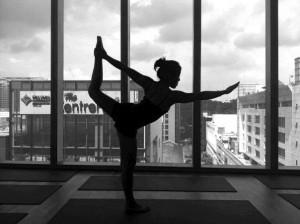 yoga bow silhouette