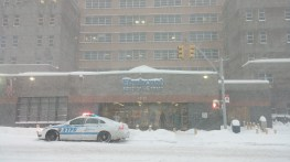 NYPD parks in front of Elmhurst Hospital