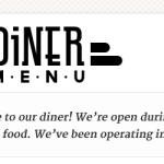 Diner Menu: Shot 1