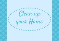 Logo der Clean up your home Aktion auf Meldipi.com