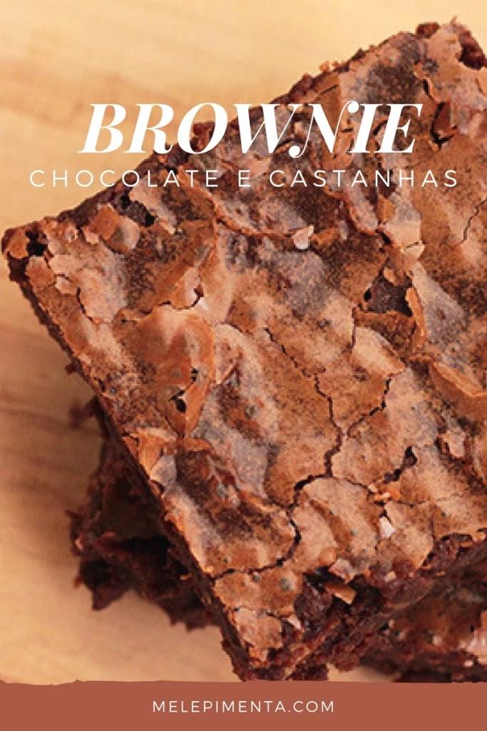 Brownie de chocolate e castanhas