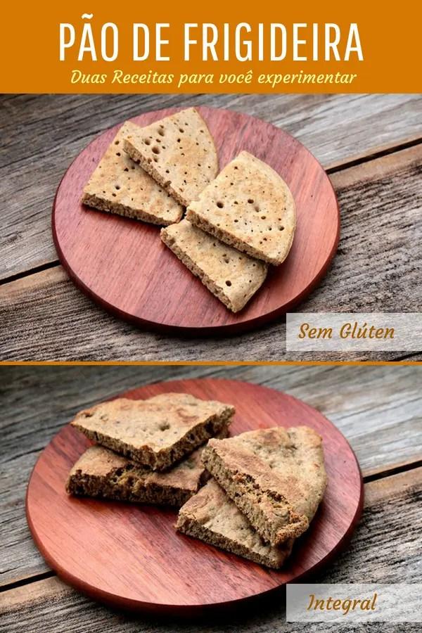 Como fazer pão de frigideira - Uma receita de pão integral de frigideira e outra de pão de polvilho de frigideira. Duas receitas deliciosas para um café da manhã saudável e delicioso.