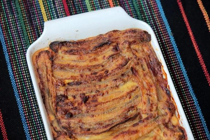Pastelón - Um prato feito com banana e carne moída