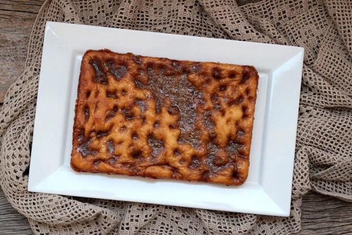 Pão doce com caramelo   Brunsviger Dinamarquês