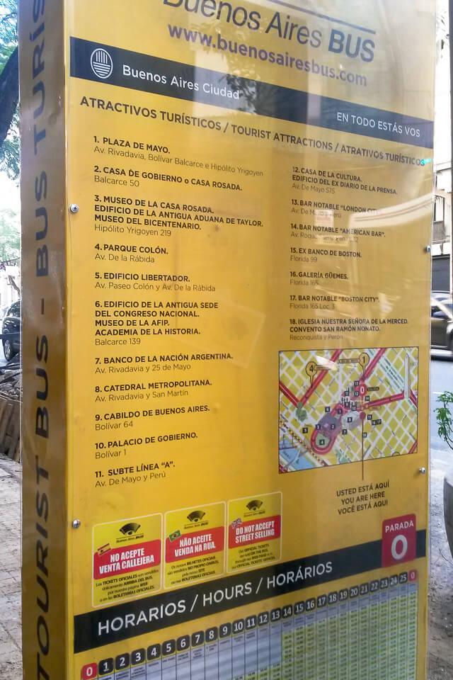 Buenos Aires Bus – Totem das paradas