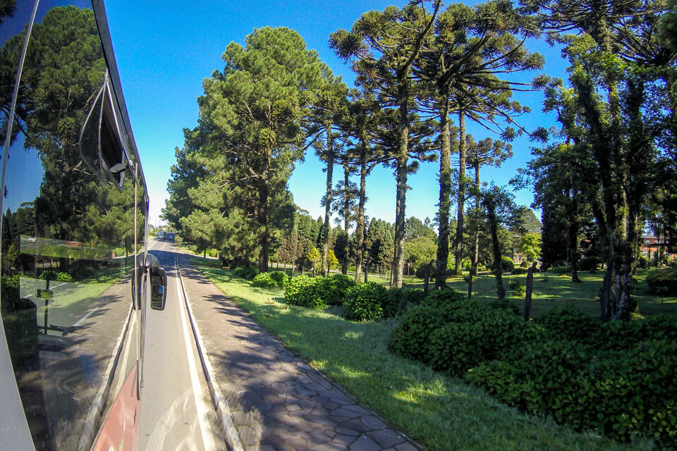 Paisagem das estradas entre Gramado e Canela
