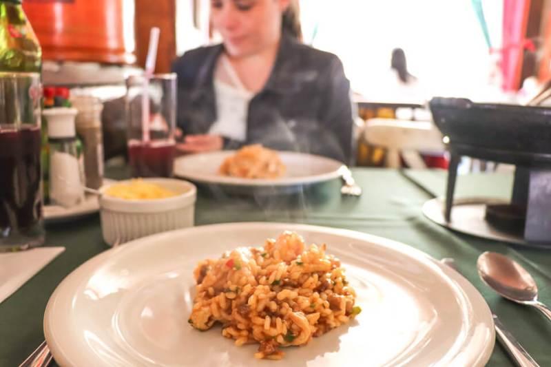 Onde comer em Gramado? Risoto da Cantina Tagliarini