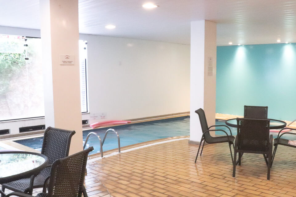 Hotel com piscina aquecida em brusque