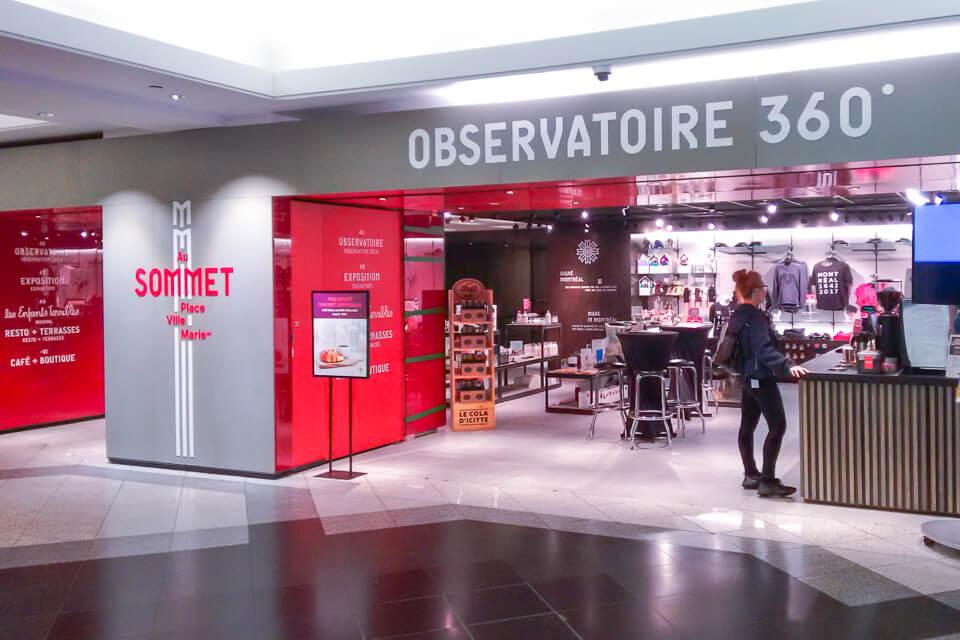 Entrada-do-Au-Sommet-Place-Deck-de observação-de-Montreal