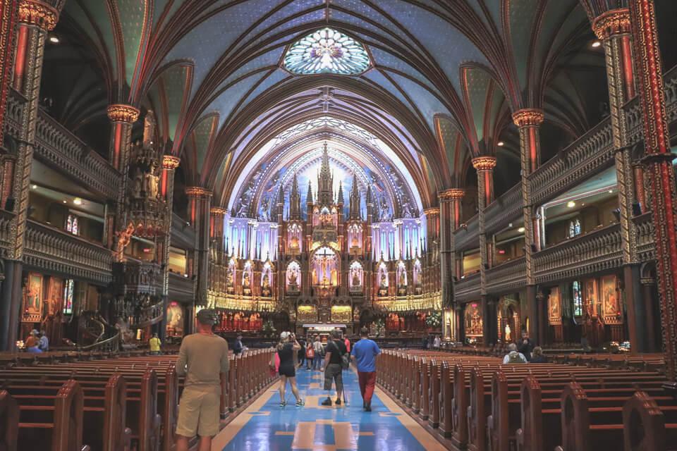 O que fazer em Montreal? Basílica de Notre Dame de Montreal