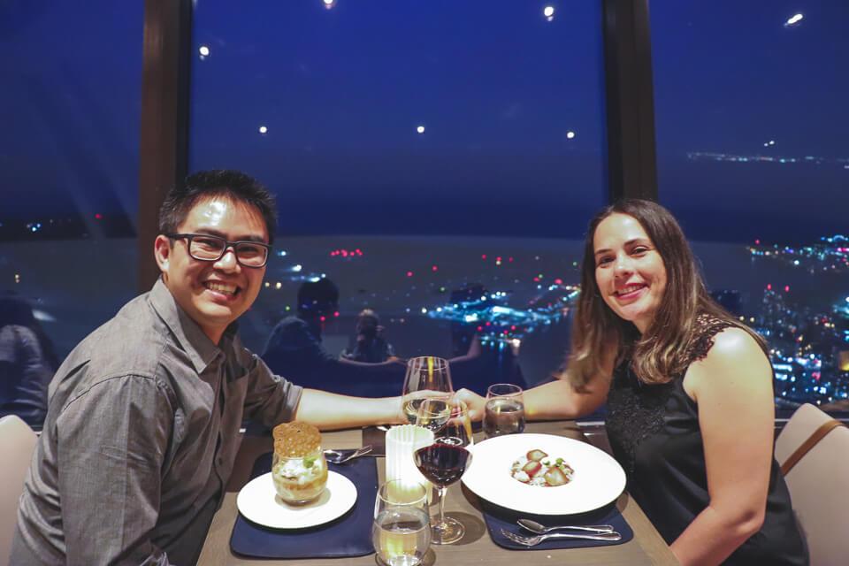 360 Restaurant o restaurante giratório de Toronto na CN Tower