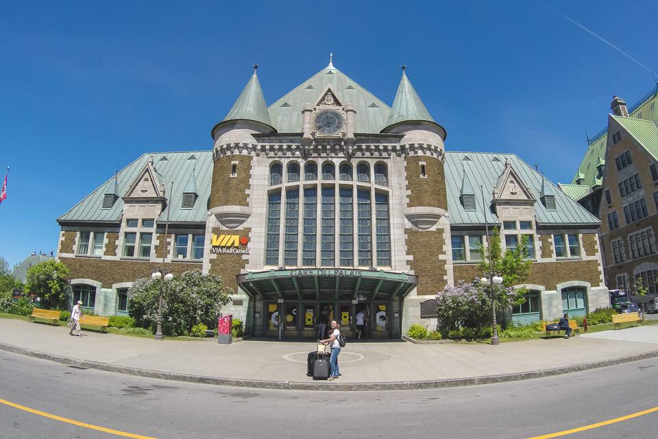 Roteiro de 3 dias em Quebec - Estação de trem de Quebec