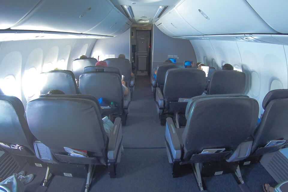 Como é voar Copa Airlines? assentos da classe executiva (business)